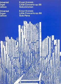 Petit Concerto Op. 88 1939/40 Ernst Krenek Partition laflutedepan