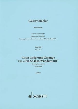 9 Lieder Und Gesänge Aus des Knaben Wunderhorn MAHLER laflutedepan