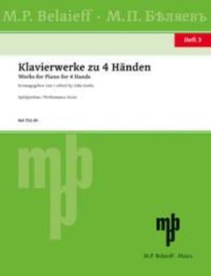Klavierwerke Zu 4 Händen Volume 3 - Partition - laflutedepan.com