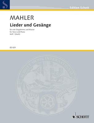 Lieder Und Gesänge Volume 1 Voix Haute MAHLER Partition laflutedepan