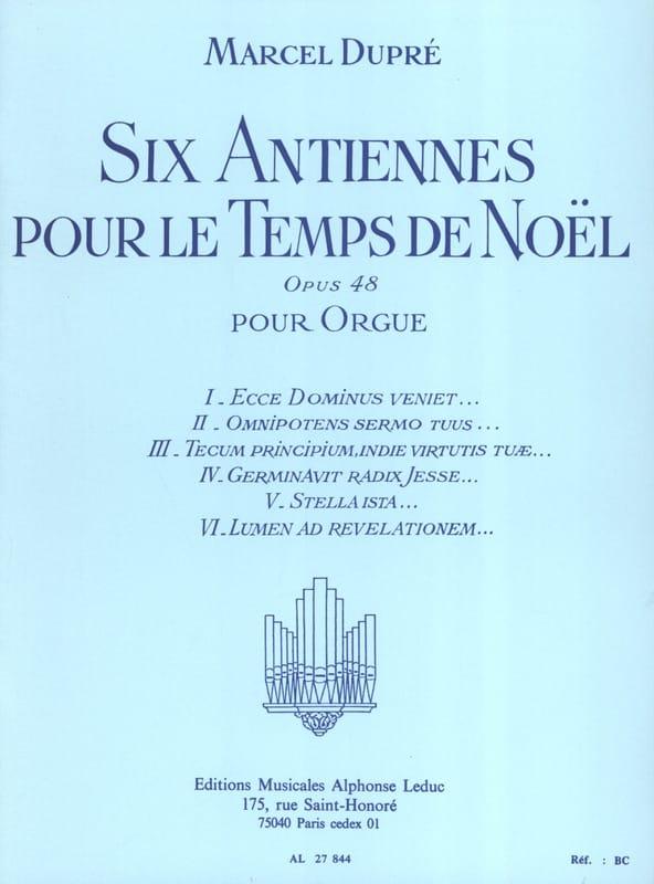 6 Antiennes Pour le Temps de Noël Opus 48 - DUPRÉ - laflutedepan.com