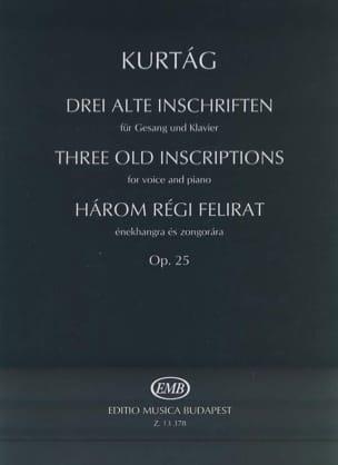 Harom Régit Felirat Opus 25. KURTAG Partition Mélodies - laflutedepan