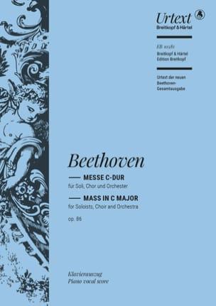 Messe En Ut Opus 86 BEETHOVEN Partition Chœur - laflutedepan