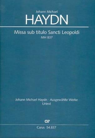 Missa sub titulo Sancti Leopoldi MH 837 Michael HAYDN laflutedepan