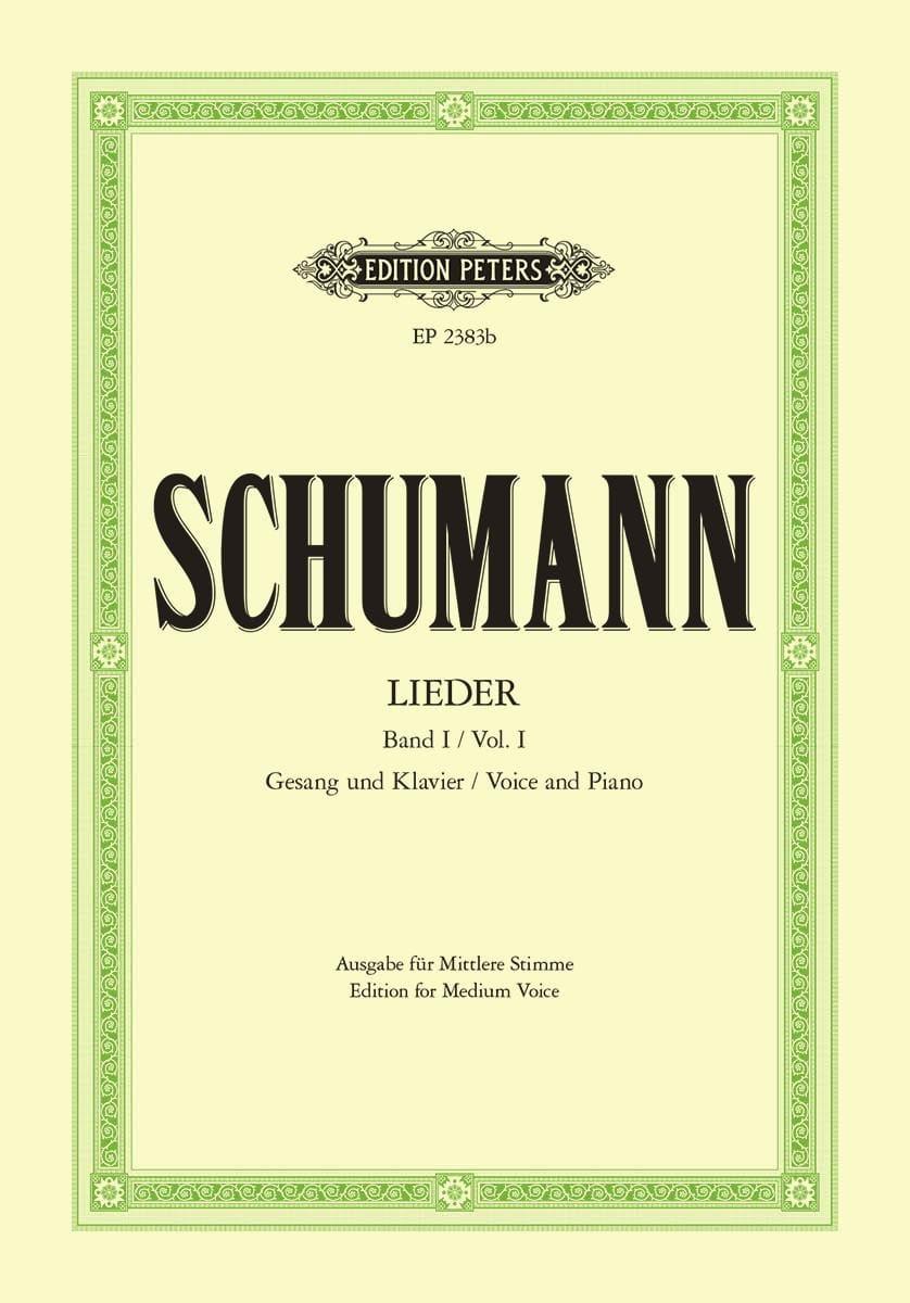 Lieder Volume 1. Voix Moyenne - SCHUMANN - laflutedepan.com