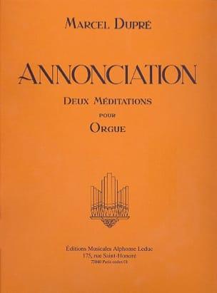 Annonciation Opus 56 DUPRÉ Partition Orgue - laflutedepan