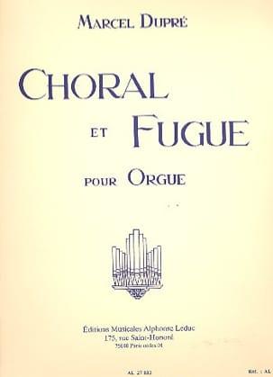 Choral et Fugue Opus 57 DUPRÉ Partition Orgue - laflutedepan