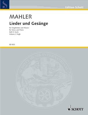 Lieder Und Gesänge Volume 3. Voix Haute MAHLER Partition laflutedepan