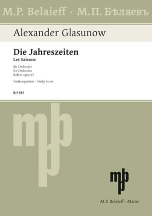 Les Saisons Opus 67 GLAZOUNOV Partition Piano - laflutedepan