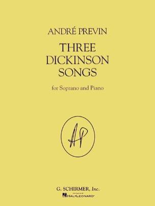 3 Dickinson Songs André Prévin Partition Mélodies - laflutedepan