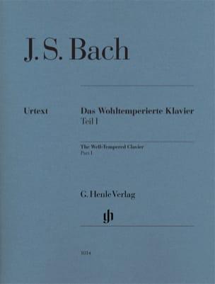 Le Clavier bien tempéré. Volume 1 BACH Partition Piano - laflutedepan