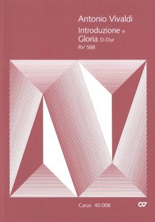 Introduzione E Gloria RV 588. Conducteur VIVALDI laflutedepan