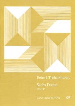 6 Duette Opus 46 TCHAIKOVSKY Partition laflutedepan