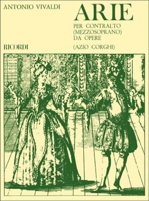 VIVALDI - Arie Per Contralto Da Opere - Partition - di-arezzo.com