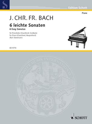 6 Leichte Sonaten Johann Christoph Friedrich Bach laflutedepan