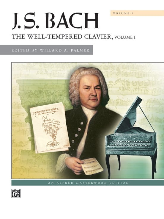 Le Clavier Bien Tempéré Volume 1 - BACH - Partition - laflutedepan.com