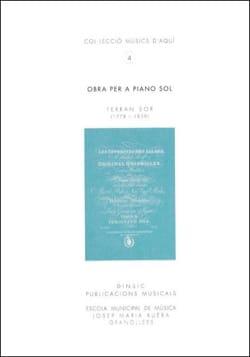 Obra Per A Piano Solo - Ferran Sor - Partition - laflutedepan.com
