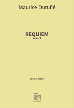 Requiem Opus 9. Choeur seul DURUFLÉ Partition Chœur - laflutedepan