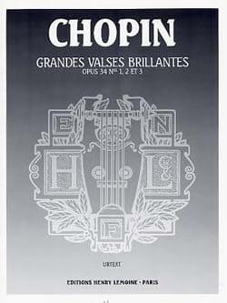 Grandes Valses Brillantes Opus 34 CHOPIN Partition laflutedepan