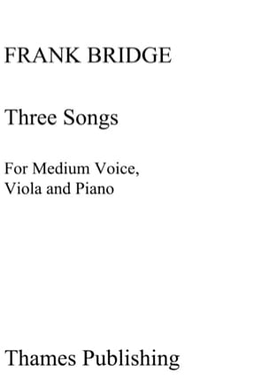 3 Songs. Frank Bridge Partition Alto - laflutedepan