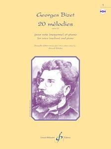20 Mélodies Opus 21 BIZET Partition Mélodies - laflutedepan