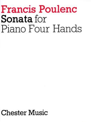 Sonate Pour Piano. 4 Mains POULENC Partition Piano - laflutedepan