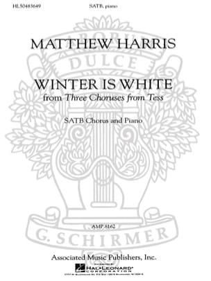 L'hivers Est Blanc Matthew Harris Partition Chœur - laflutedepan