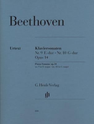 Sonates Pour Piano N° 9 et N° 10 Opus 14 BEETHOVEN laflutedepan