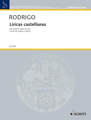 Líricas castellanas 1980 RODRIGO Partition laflutedepan