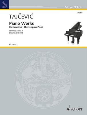Oeuvres pour piano volume 2 Marko Tajcevic Partition laflutedepan
