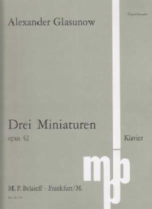 3 Miniatures Opus 42 - GLAZOUNOV - Partition - laflutedepan.com