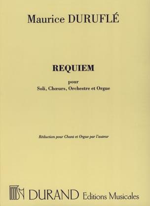 Requiem Opus 9 Choeur et Orgue DURUFLÉ Partition Chœur - laflutedepan