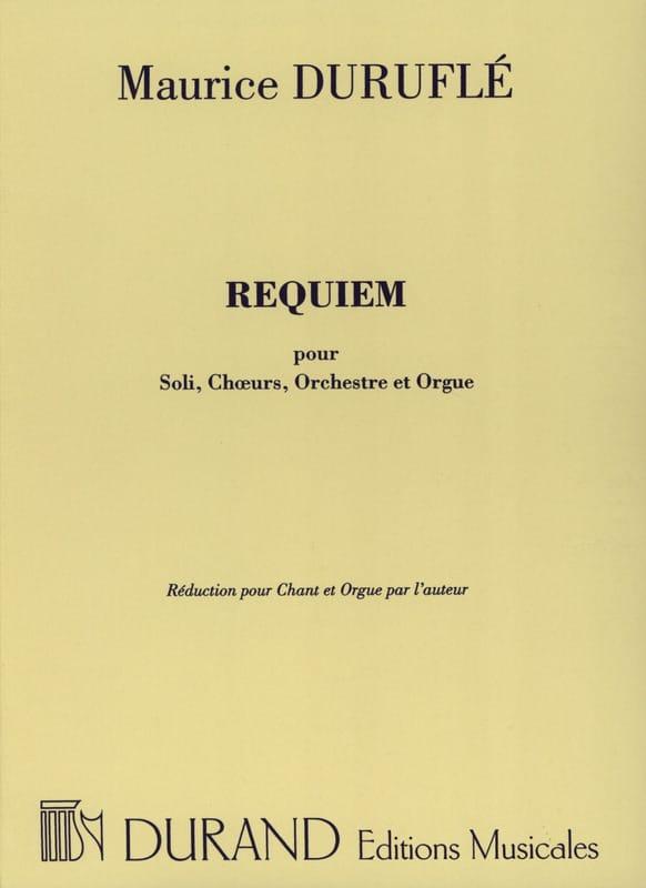 Requiem Opus 9 Choeur et Orgue - DURUFLÉ - laflutedepan.com