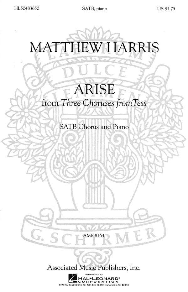 Arise - Matthew Harris - Partition - Chœur - laflutedepan.com