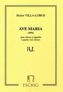 Ave Maria 1931 VILLA-LOBOS Partition Chœur - laflutedepan