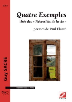 Quatre exemples - Guy Sacre - Partition - Mélodies - laflutedepan.com