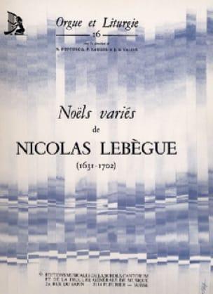 Noëls variés - Nicolas Lebègue - Partition - Orgue - laflutedepan.com