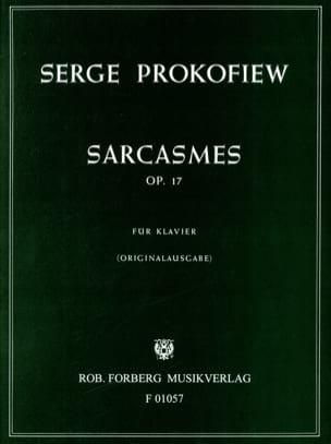 Sarcasmes Opus 17 PROKOFIEV Partition Piano - laflutedepan