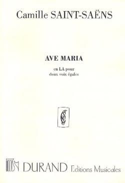 Ave Maria En La. Duo SAINT-SAËNS Partition Duos - laflutedepan