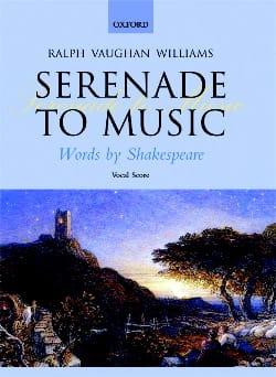Serenade To Music WILLIAMS VAUGHAN Partition Chœur - laflutedepan