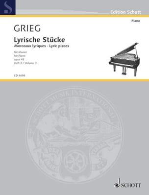 Lyrische Stücke Volume 3 Opus 43 - GRIEG - laflutedepan.com