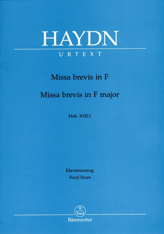 Missa Brevis En Fa majeur Hob 22-1 - HAYDN - laflutedepan.com