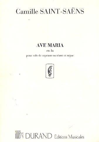Ave Maria - SAINT-SAËNS - Partition - laflutedepan.com