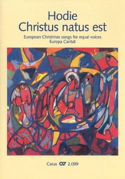 Hodie Christus Natus Est Volume 1 Voix Egales Partition laflutedepan
