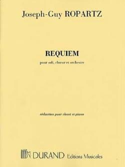Requiem Guy Ropartz Partition Chœur - laflutedepan