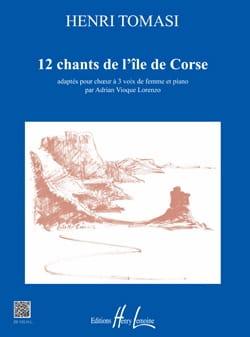 12 chants de l'île de Corse TOMASI Partition Chœur - laflutedepan