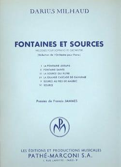 Fontaines Et Sources MILHAUD Partition Mélodies - laflutedepan