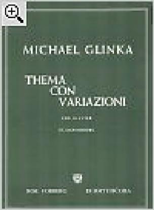 Thema con variazioni - GLINKA - Partition - Piano - laflutedepan.com