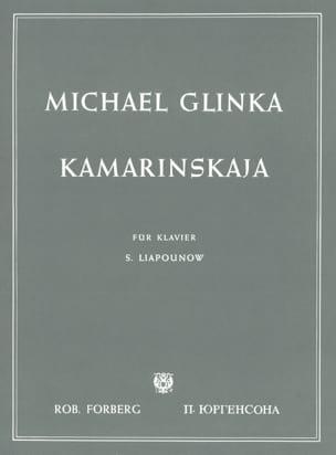 Kamarinskaja GLINKA Partition Piano - laflutedepan