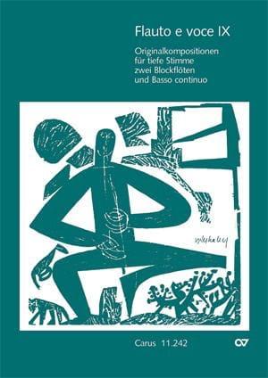 Flauto E Voce. Volume 9 - Partition - laflutedepan.com
